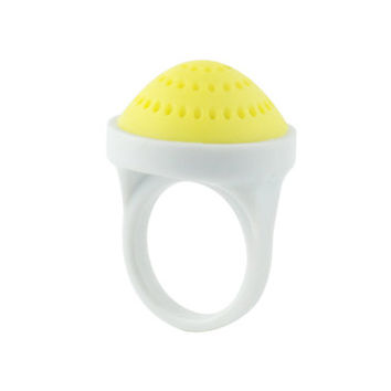 RING, Thimble Top 'true yellow' - Base 'pure white'