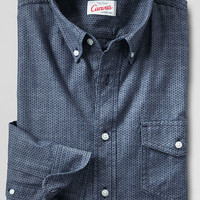 Men's Long Sleeve Printed Chambray Shirt from Lands' End