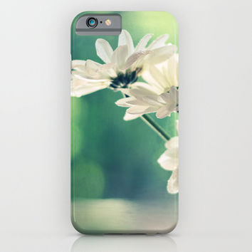 White Daisies - Simplicity iPhone & iPod Case by micklyn