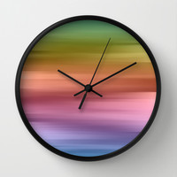 Whispered Rainbow Wall Clock by Lisa Argyropoulos