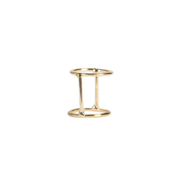 DOUBLE BAND BAR RING - GOLD