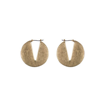 MATTE ROUND V CUT EARRINGS
