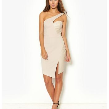 Lipsy Michelle Keegan Asymmetric Dress