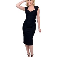 Stop Staring! 1940s Black Love Wiggle Dress
