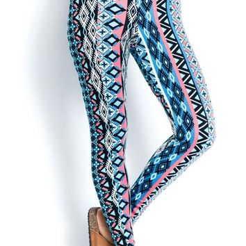 Highwaist Colorful Tribal Leggings