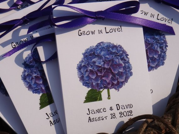 Purple Hydrangeas Design Wedding Favors From SuLuGifts On Etsy