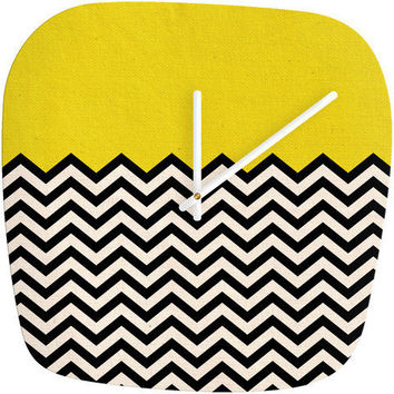 Follow The Sun - Modern Clock by Bianca Green | DENY Designs