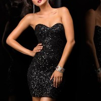 2014 Scala Little Black Homecoming Dress 48349