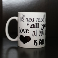 Beatles Lyrics Coffee Mug