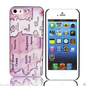 iPhone5c Map Hard Case (Harry Potter-Narnia-Lord of the Rings-Game of Thrones)