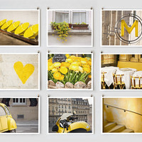 Paris Photography Collection, Yellow -- Paris Art, French Large Wall Art, Yellow Wall Art, Spring