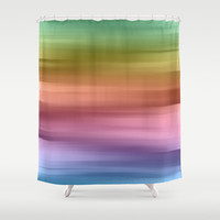 Whispered Rainbow Shower Curtain by Lisa Argyropoulos