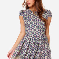 Mumbai and By Beige Floral Print Dress
