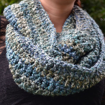 The open sea crocheted loop infinity scarf, cowl
