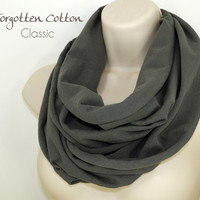Infinity Scarf Gray Stark Game of Thrones Charcoal Jersey