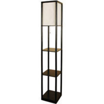 walmart mainstays shelf floor lamp with from walmart my With mainstays shelf floor lamp with wood shelves instructions