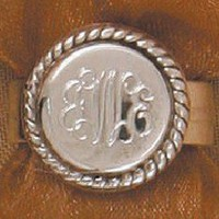 Monogrammed Sterling Silver Ring in Nala