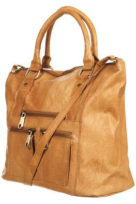 Zip Washed Leather Holdall