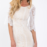 CHASE ME MORE DRESS IN WHITE - Popcherry