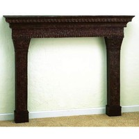 Iron &amp; Tole Three Section Mantle Dr Livingstone I Presume Mantels &amp; Surrounds Fireplac