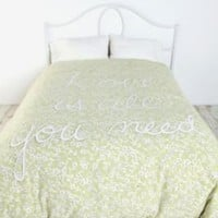 Green Fields Duvet Cover