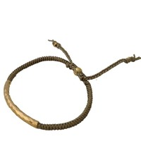 TAI Hammered Beige and Gold Bracelet
