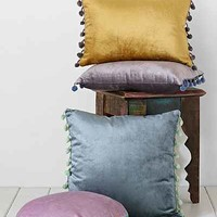 Plum & Bow Square Velvet Pillow - Urban Outfitters