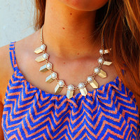 Girl All the Bad Boys Want Statement Necklace - Burnished Gold