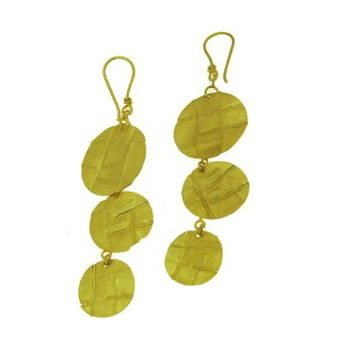 Gold Plated Dangling Circle Earrings
