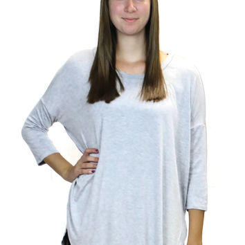 Perfect Knit Tee - Heather Grey – BECK