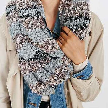 Mixed Stitch Eyelash Eternity Scarf - Urban Outfitters