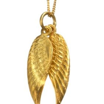 Gold Plated Vermeil Wing Pendant Neclace