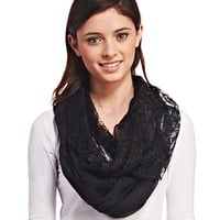 Floral Lace Infinity Scarf | Wet Seal