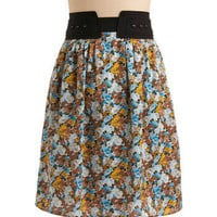 Chrysanthe-'mums' the Word Skirt | Mod Retro Vintage Skirts | ModCloth.com