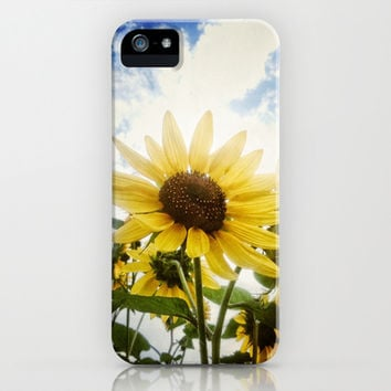 Summer Sunflower Sky iPhone & iPod Case by RichCaspian | Society6