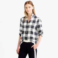 PETITE FLANNEL SHIRT IN BUFFALO CHECK