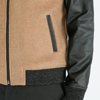 Combinated bomber jacket