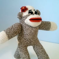 Tiny Girl Sock Monkey - Stocking Stuffer, Children's Toy, Stuffed Animal
