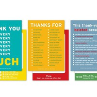 Gratitudes Greeting Cards - 6 Clever Thank You Cards - Whimsical & Unique Gift Ideas for the Coolest Gift Givers