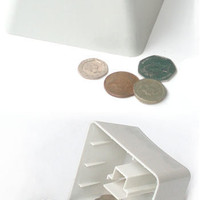 Save Money Box from Suck UK, Coin Bank in the Shape of Keyboard Button - Pure Modern Design Contemporary Accessories