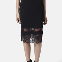 Topshop Lace Insert Body-Con Tube Skirt | Nordstrom
