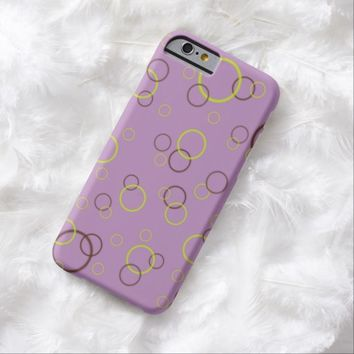Lime and brown rings on violet iPhone 6 case