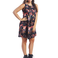 Floral Fit & Flare Dress | Wet Seal+
