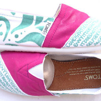 The Trixie - Fuscia and Teal Custom TOMS