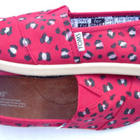 The Cheetah - Red and Black Custom TOMS