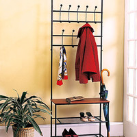 Entryway Bench with Rack
