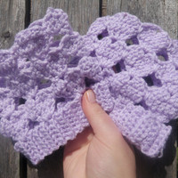 heart boot cuffs, crochet boot socks, lavender boot toppers, free USA shipping