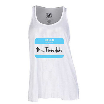 Mrs Justin Timberlake  for Tank Top Mens and Tank top Girls
