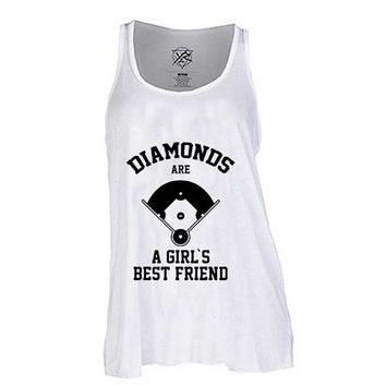 Diamonds Are A Girls Best Friend baseball for Tank Top Mens and Tank top Girls