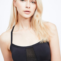 Sporty Strappy Crop Top in Black - Urban Outfitters